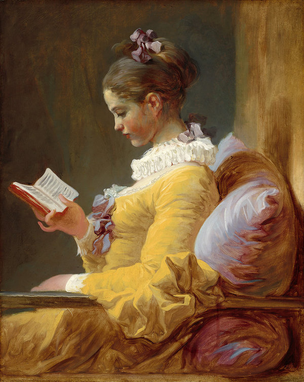 Jean Honore Fragonard, Young Girl Reading.