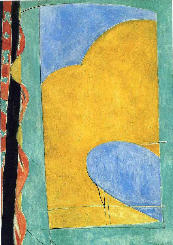 Henri Matisse, the Yellow Curtain, 1915